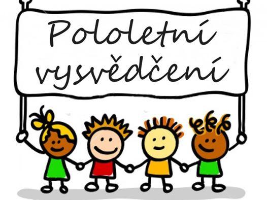 Vydávání vysvědčení za I. pololetí - ZŠ Hošťálková